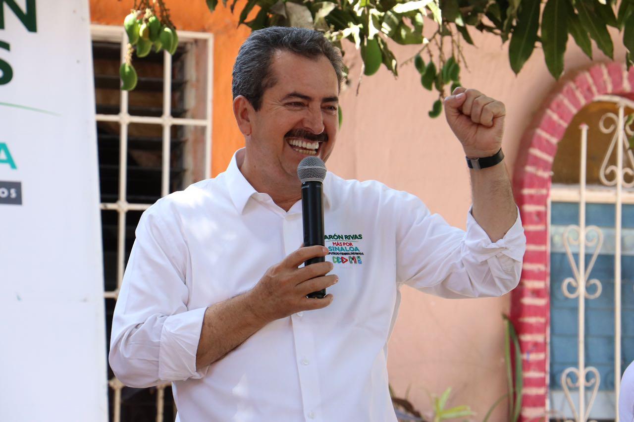 Aarón Rivas va por más escuelas de tiempo completo para Sinaloa