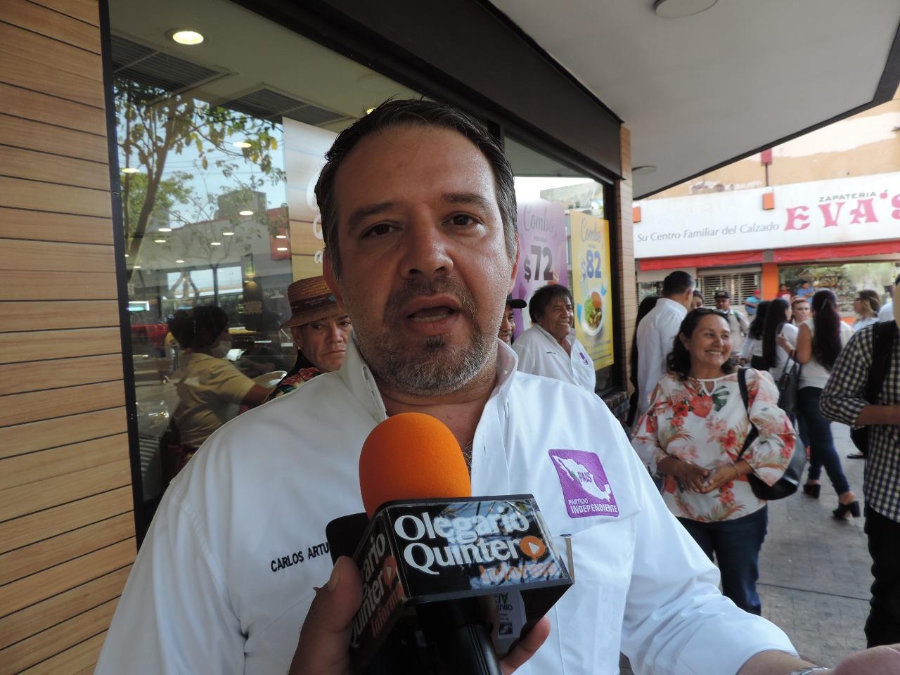 Carlos Arturo García arranca campaña con 15 mil pesos de presupuesto
