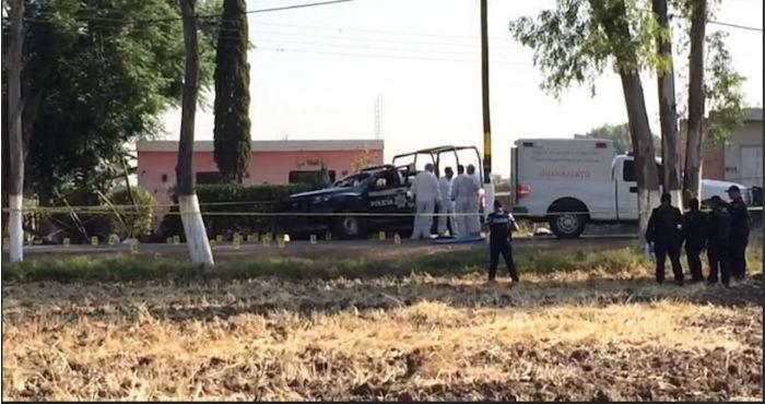 Comando ataca a policías municipales de Tomelópez, Guanajuato; deja a dos muertos y uno herido