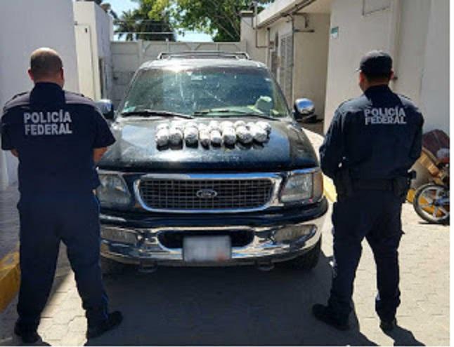 Policía Federal de Sinaloa asegura cerca de 6 kilos de aparente metanfetamina
