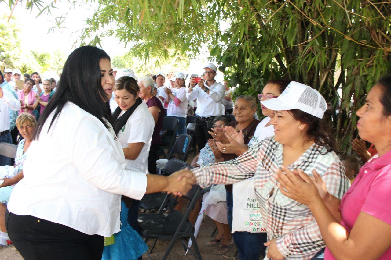 Se buscará solución al problema de la sequía de Sinaloa municipio desde el senado Rosa Elena Millán
