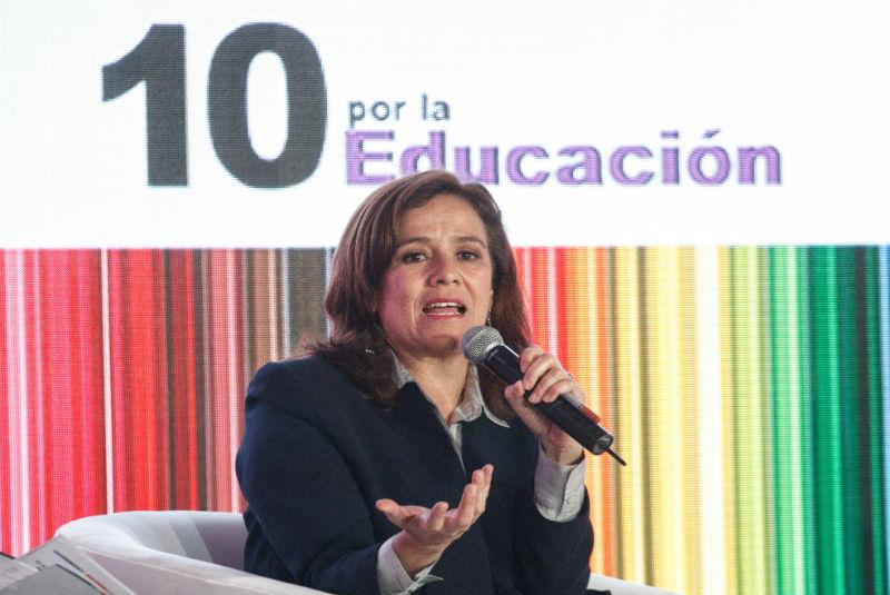 Seré implacable con la corrupción educativa: Margarita Zavala