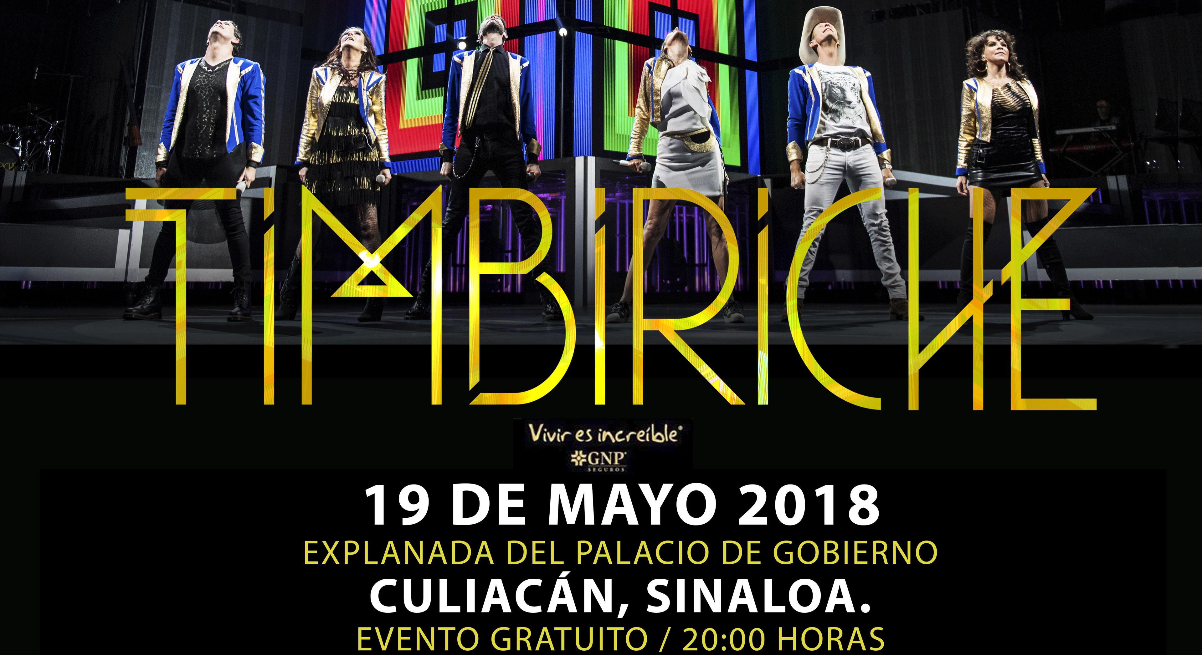 ¡Este sábado 19 de mayo llega Timbiriche a la Explanada de Palacio de Gobierno!