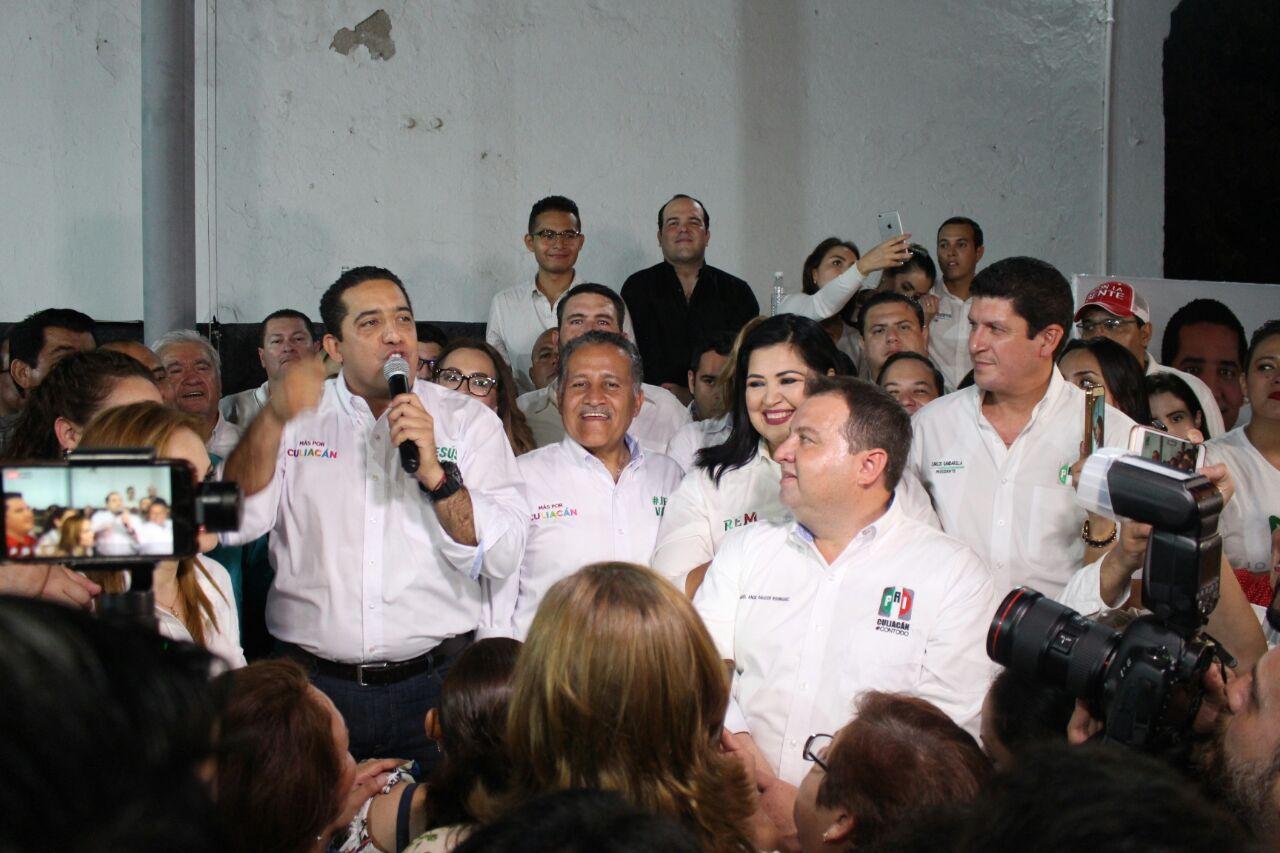 Todos los candidatos del PRI-PANAL-PVEM, como un solo equipo a favor de Sinaloa y su gente Rosa Elena Millán