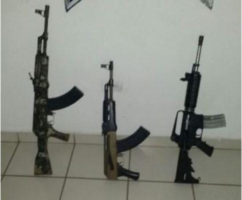 Investigan armas aseguradas en Chinitos y la México 15