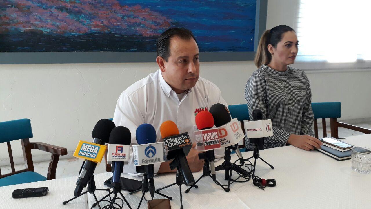 Juan Ernesto Millán continúan firme para ganar elecciones